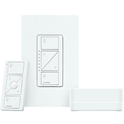 lutron caseta wireless smart lighting dimmer switch starter kit works with alexa apple homekit and the google assistant p bdg pkg1w