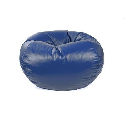 medium vinyl bean bag chair blue gold medal