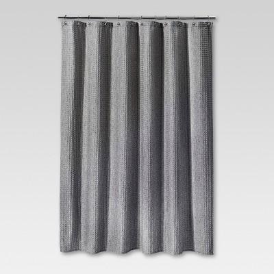 72 x72 waffle weave shower curtain gray threshold