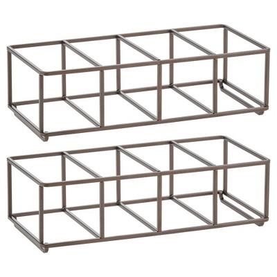 mdesign metal wine rack storage holder 8 bottles 2 pack
