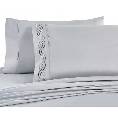 vcny home lafayette sheet set gray 6 piece queen sheet set