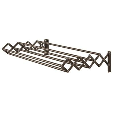 mdesign expandable wall mount laundry drying rack clothing storage bronze