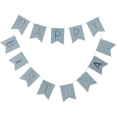 Happy Birthday Bunting Pastel Decoration Target