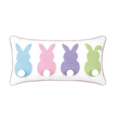 c f home 10 x 10 bunny bum easter spring pillow