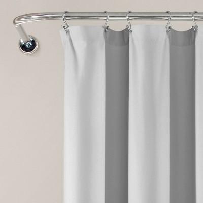 gray ruffle shower curtain target