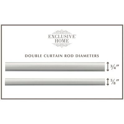 double curtain rod target
