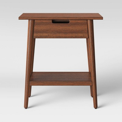 ellwood wood end table with drawer brown project 62