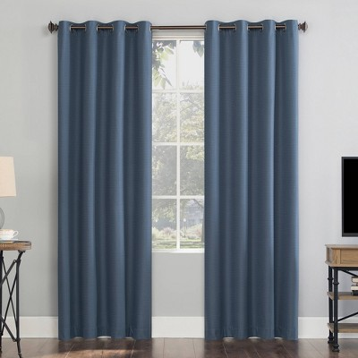 navy blue panel curtains target