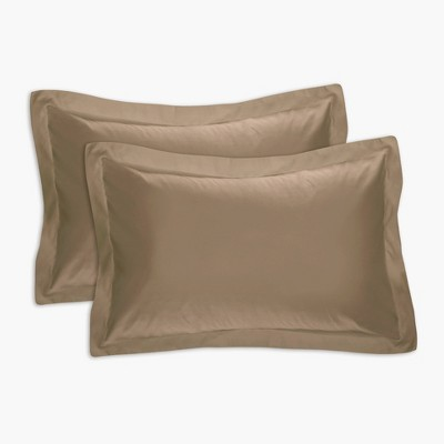 tailored bedding collection pillow sham king 2 piece mocha tailored bedding collection
