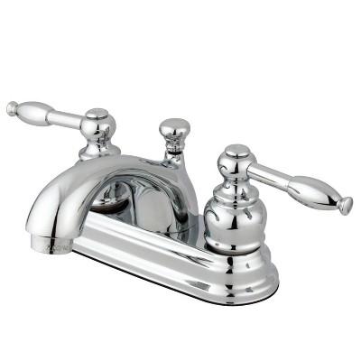 center set bathroom faucet 4 chrome kingston brass