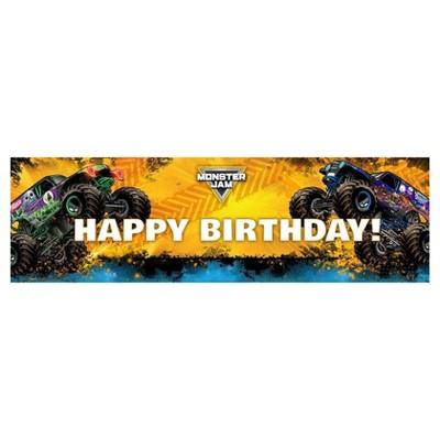 Monster Jam Birthday Banner Target