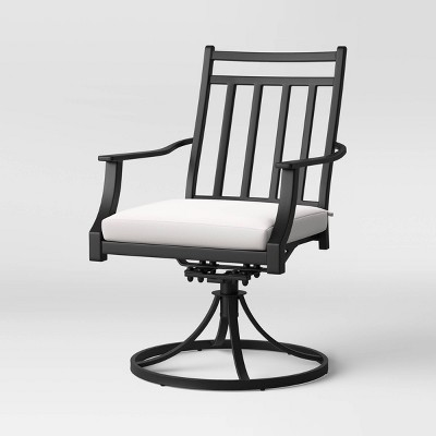 fairmont 2pk metal swivel rocking patio dining chair linen threshold