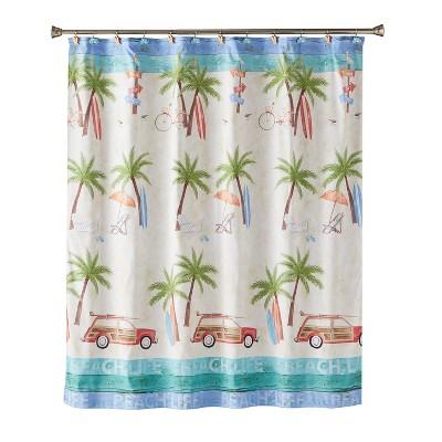 paradise beach shower curtain multi colored saturday knight ltd