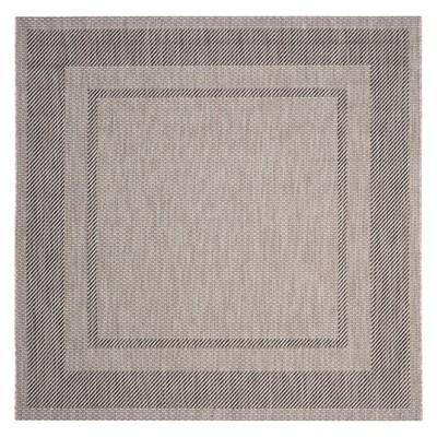6 7 x6 7 square tournefeuille outdoor patio rug beige black safavieh