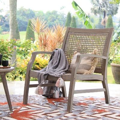 teak zuma patio lounge chair gray cambridge casual