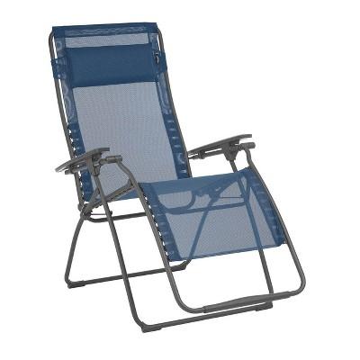 lafuma futura xl zero gravity outdoor steel framed lawn recliner chair ocean
