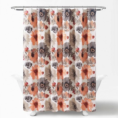 coral shower curtain target