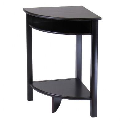 liso corner table cube storage and shelf dark espresso winsome