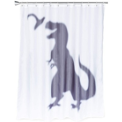okuna outpost t rex dinosaur shower curtain set with 12 hooks for bathroom 70 x 71 in