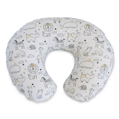 boppy original feeding and infant support pillow notebook black gold