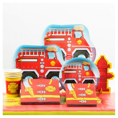 Firefighter Birthday Party Supplies Collection Target