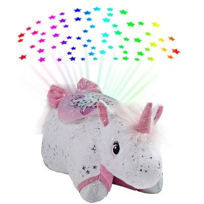 glittery unicorn sleeptime lite portable led light pillow pets