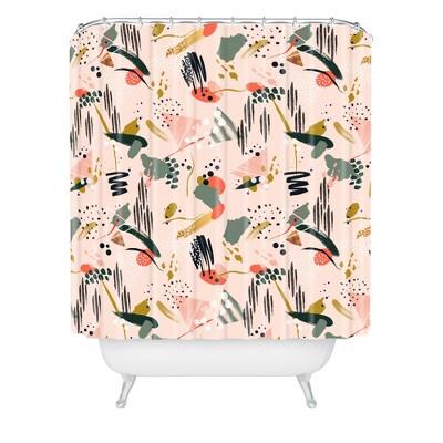 brushstrokes i shower curtain pink deny designs