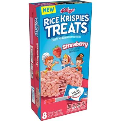Rice Krispies Treats Strawberry 6 2oz 8ct Target