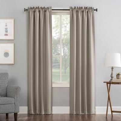 63 x40 kenneth rod pocket blackout curtain panel beige sun zero