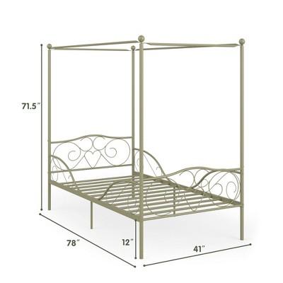 metal bed frames target