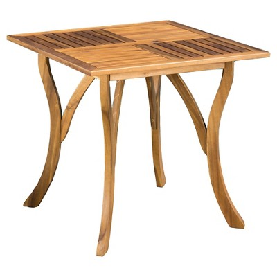hermosa 31 5 square acacia wood table teak finish christopher knight home