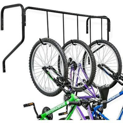 raxgo 5 bike wall mounted bicycle storage hanger garage bike rack