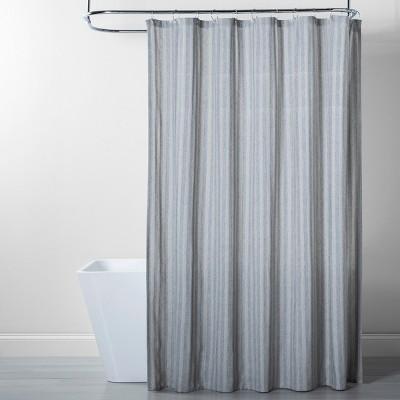 herringbone striped shower curtain gray threshold