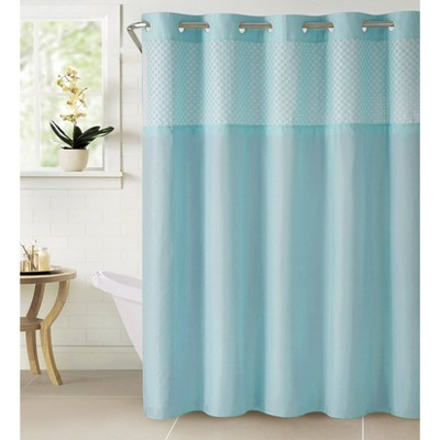 bahamas shower curtain with liner blue hookless