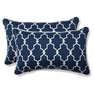 pillow perfect outdoor throw pillow set blue