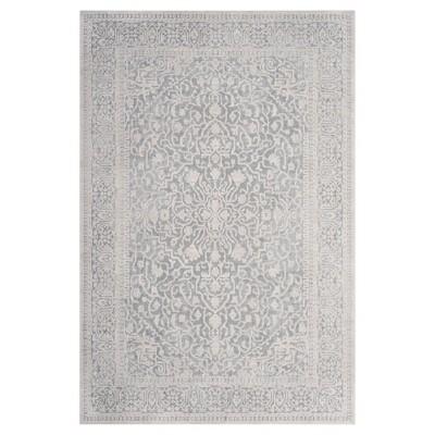 5 1 x7 6 floral loomed area rug light blue cream safavieh