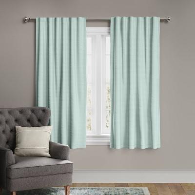 63 x50 voile overlay blackout window curtain panel green threshold