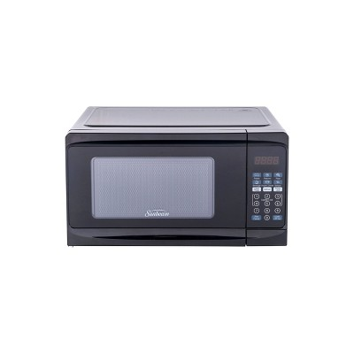 sunbeam 0 7 cu ft 700 watt microwave oven black sgcmv807bk 07