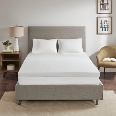 3 memory foam mattress topper twin white