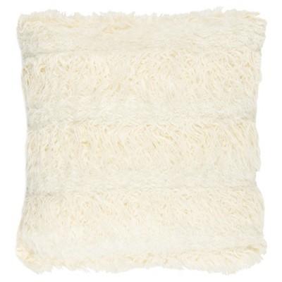 renda faux fur pillow cream 20 x 20 safavieh