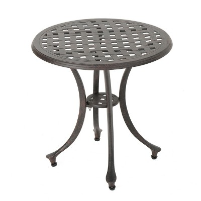 lola 19 cast aluminum side table bronze christopher knight home