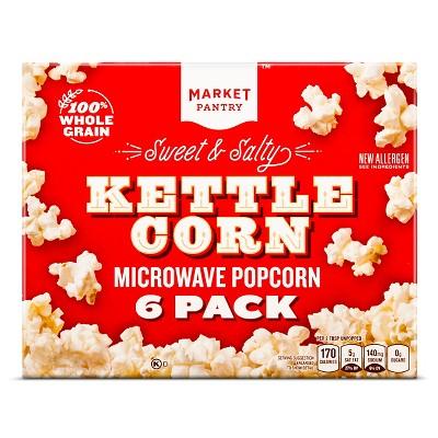 sweet salty kettle corn 6ct market pantry