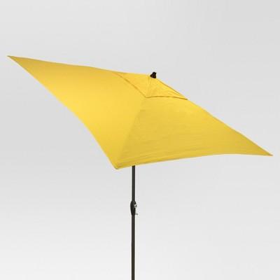 6 5 square umbrella yellow black pole threshold