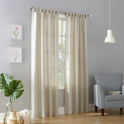 washed cotton twist tab light filtering