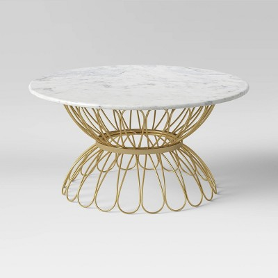 marble top patio coffee table opalhouse