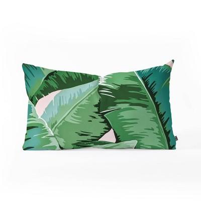 gale switzer banana leaf grandeur oblong lumbar throw pillow green deny designs