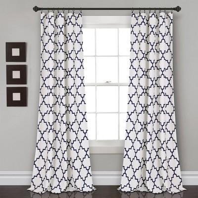 set of 2 84 x52 bellagio room darkening window curtain panels navy lush decor