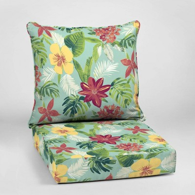 elea tropical deep seat outdoor cushion set aqua arden selections
