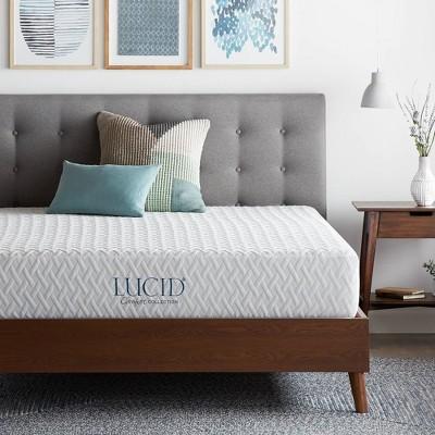 twin 10 comfort collection plush gel memory foam mattress lucid