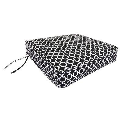 outdoor deep seat cushion black white geometric